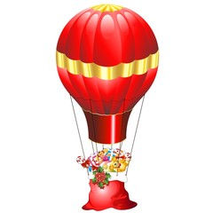 Natale Mongolfiera con Regali-Christmas Gifts on Fire Balloon