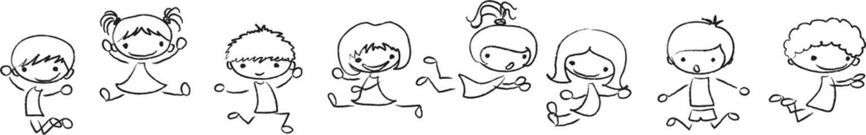 играть и прыгать милые дети