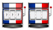 abstract France slot machine isolated on white background