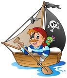 Young cartoon pirate 1