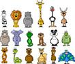 Большой набор различных животных мультфильма