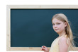 schoolgirl with blackboard 3