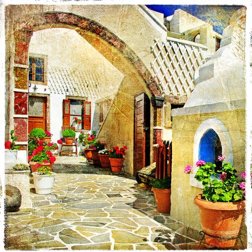 Fototapety, obrazy : pictorial streets of Santorini