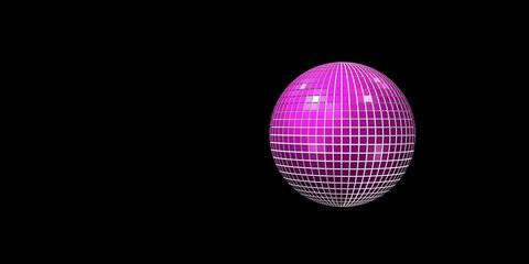 Pinky Discokugel mit schwarzen Hintergrund