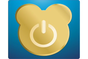Hibernate button like a teddy bear