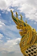 serpent head with art work in Thai style