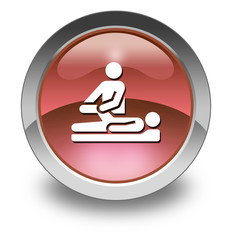 "Red Glossy Pictogram ""Physical Therapy"""
