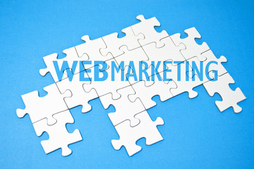 Puzzle mit Web-Marketing