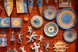 Santa Cruz Seros handcraft ceramics souvenir poster