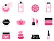 Luxury cosmetic icons and graphic elements ( pink & black )