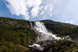 Waterfall Langfossen in Norway.