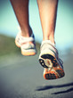 Runnning shoes on runner