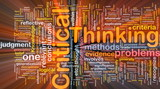 Critical thinking background concept glowing poster