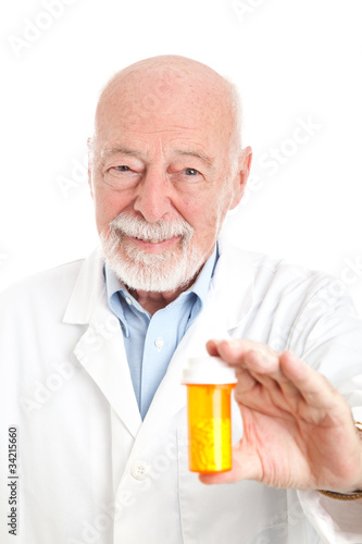 Pharmacist with Prescription