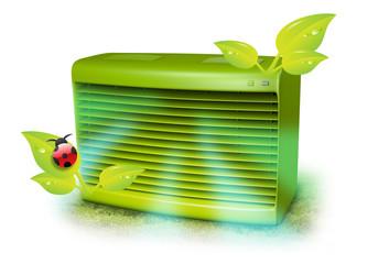 Green AC Unit