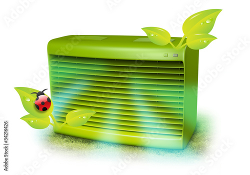 Green AC Unit