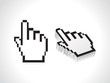 abstract hand cursor