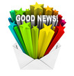 Good News Arrives in Open Envelope and Letter