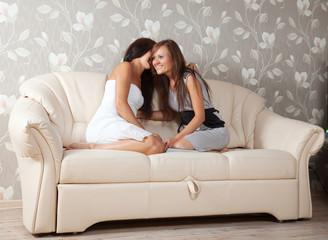 Two gossips women