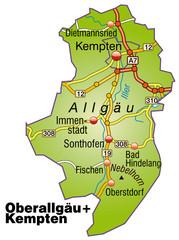 Landkreise Oberallgäu und Kempten Variante1