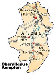 Landkreise Oberallgäu und Kempten Variante3