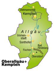 Landkreise Oberallgäu und Kempten Variante4