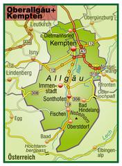 Landkreise Oberallgäu und Kempten Variante5