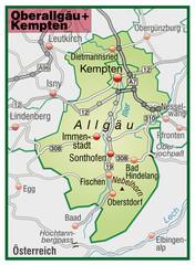 Landkreise Oberallgäu und Kempten Variante6