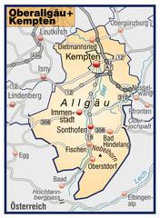 Landkreise Oberallgäu und Kempten Variante7