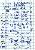 smiles and face parts poster
