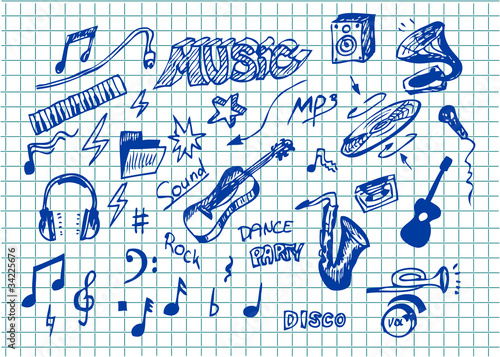 hand drawn music object