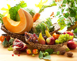 Fototapety Autumnal vegetables and fruits