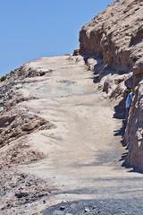 Sentiero di lava sul vulcano