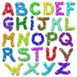 Alfabeto Glitter Brillantini Colori-Glitter Colors Alphabet