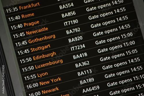 Flugzeiten