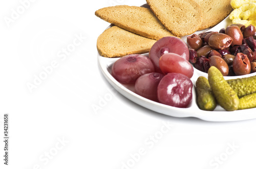 a plate of appetizer
