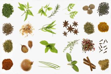 composite d'épices et d'herbes aromatiques