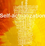 Self-actualization background concept