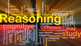 Cognitive reasoning background concept glowing poster