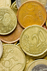 dinero euro suelto