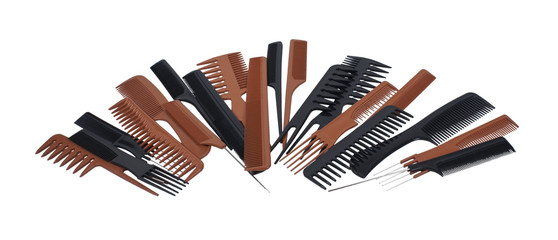 Jumbled Variety of Styles of Combs