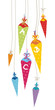 7 First Day of School Cones ABC Coloured