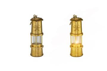 set aus zwei bergbaulampen