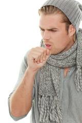 mann ist erkältet
