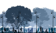 Tłum spaceru