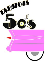 fabulous 50's with pink caddy in 3d