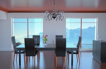 Contemporary Loft Dining Room