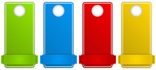 Set of Colorful Text Box Door Hangers