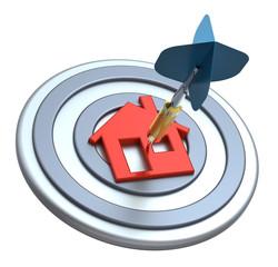 Dart on house target.