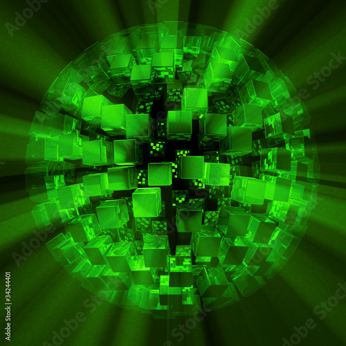 Lightcubes discoball green black